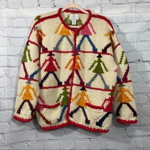 Express Tricot Wool Colorful Cardigan